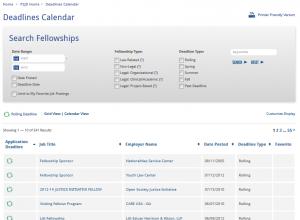 Deadline Calendar Main - Grid