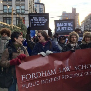 Fordham Law School contingent at Millions March in NYC, 13 Dec 2014
